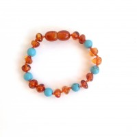NGB (B) cognac and turquoise
